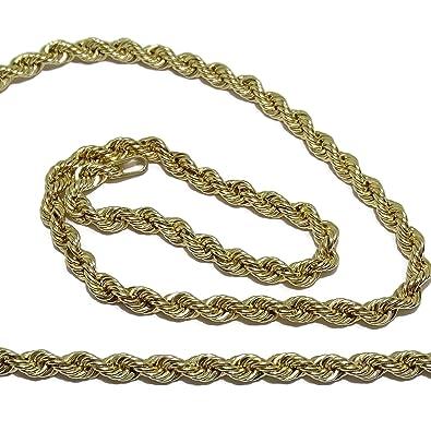 última venta al por mayor online mejor mayorista Never Say Never Cordón salomónico de Oro Amarillo de 18k de ...