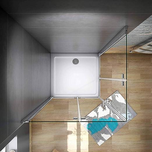Mamparas de Ducha Angular Doble Puerta Plegable 6mm Antical 70x70x185cm: Amazon.es: Bricolaje y herramientas