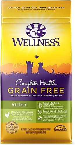 Wellness Complete Health Natural Grain Free Deboned Chicken Chicken Meal Dry Kitten Food, 2.25 Pound Bag