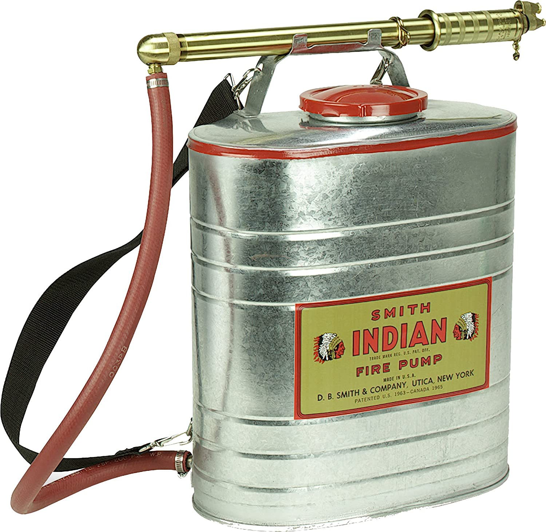 5-Gallon Indian 179014-1 Galvanized Fire Pump