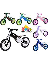"Kobe Wooden Balance Bike ""Panda"" Black and White - Perfect Training Bike For Toddlers & Kids"