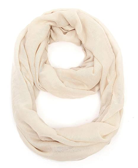 caf59d31ae0d9 Light weight Plain Solid Infinity Scarf For Women Round Circle Loop  36x36(2) Inches