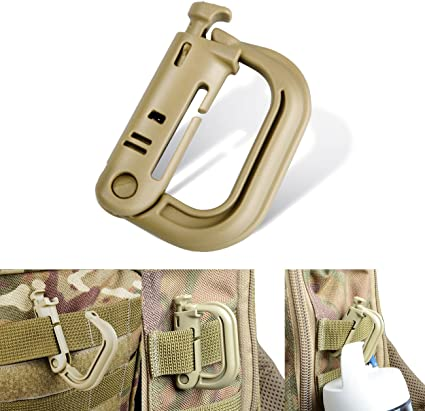 MILITARY TACTICAL CARABINA ABS PLASTIC RUCKSACK MOLLE UTILITY CLIP BRITISH ARMY