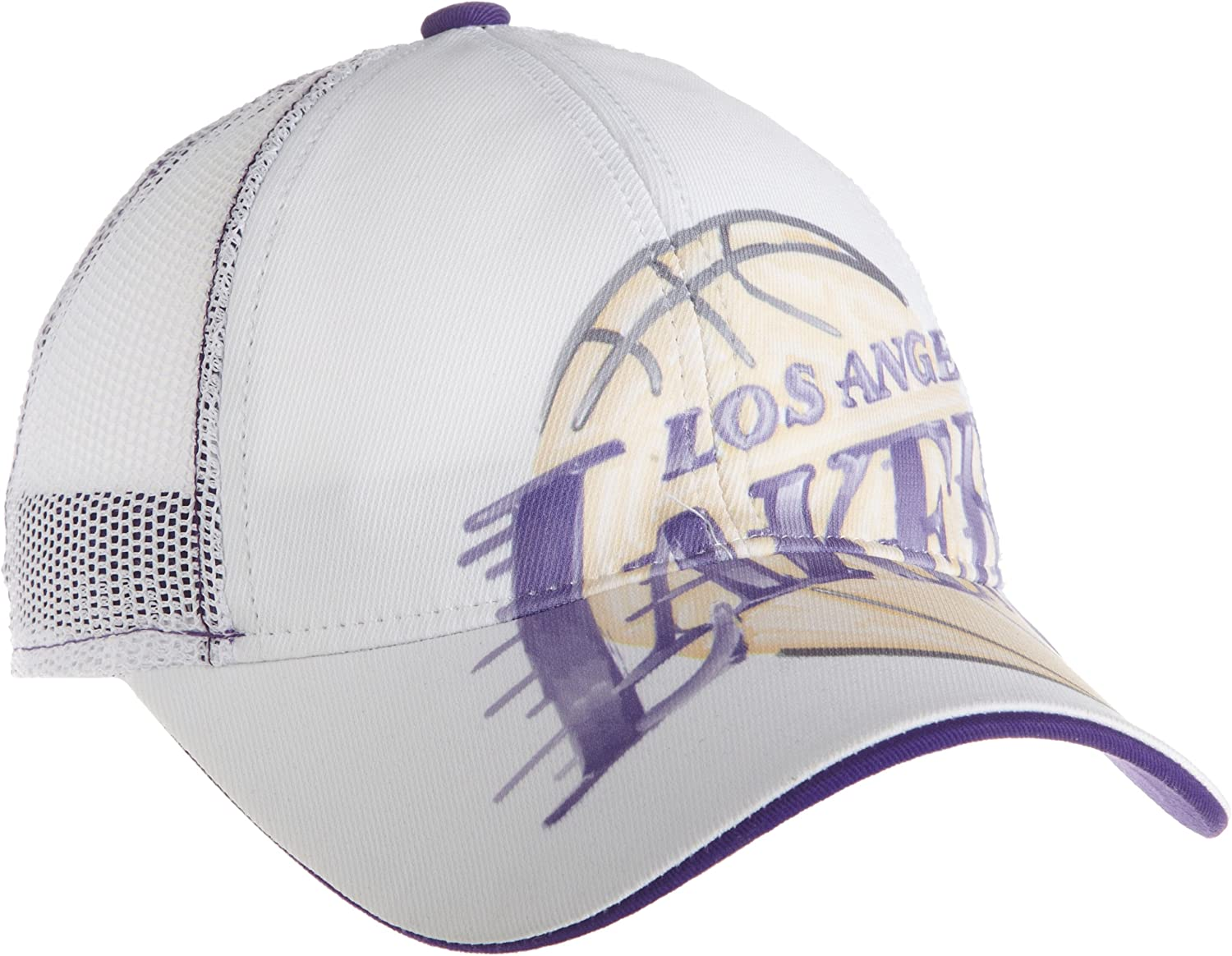 NBA Women's Slouch Adjustable Mesh Back Hat Er43W, Los Angeles Lakers, One Size , Los Angeles Lakers , White