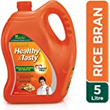 Emami Healthy and Tasty Refined Rice Bran Oil, 5L