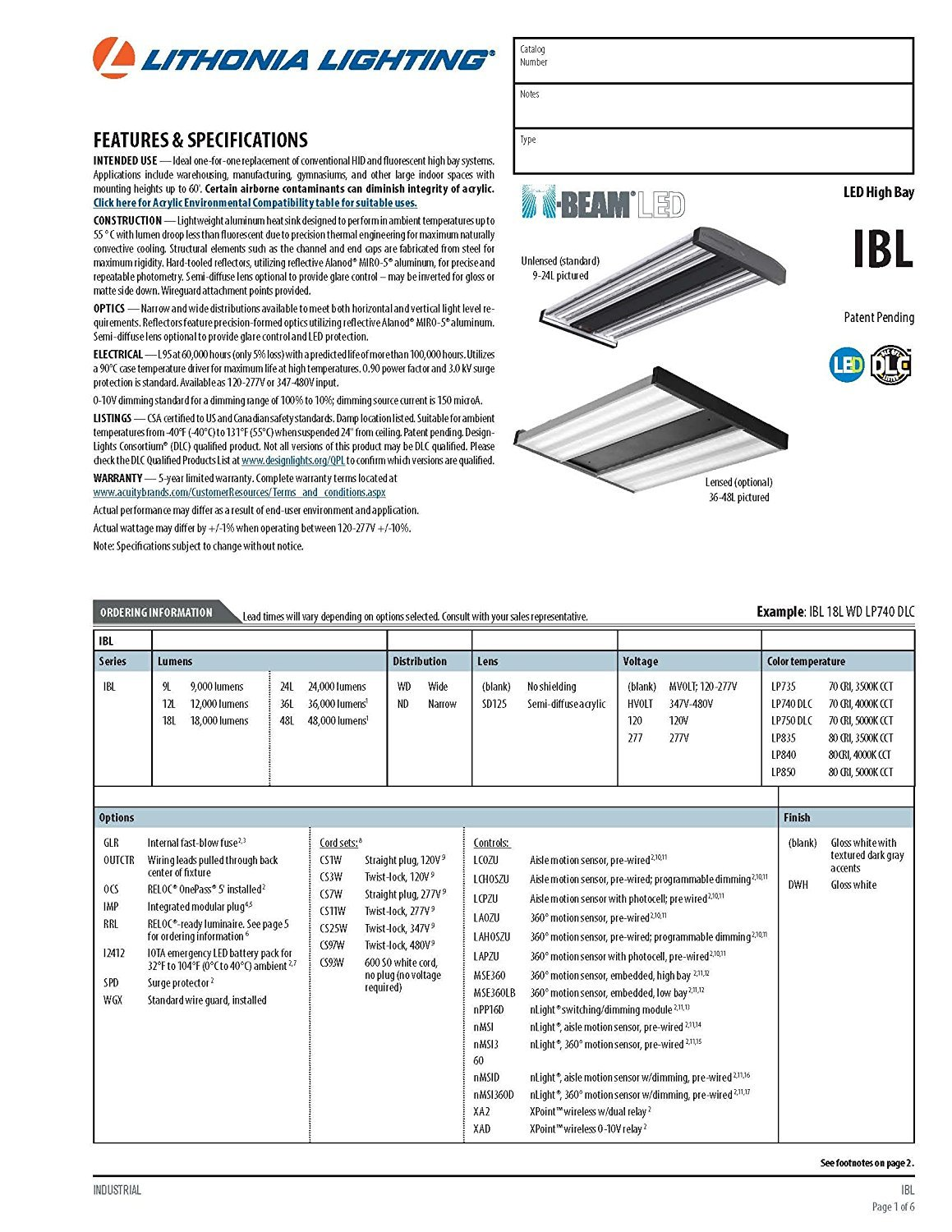 Buy Lithonia Lighting Ibl 24l Wd Lp740 Dlc Led Industrial High Bay Nlight Wiring Diagram 4 Feet Online At Low Prices In India