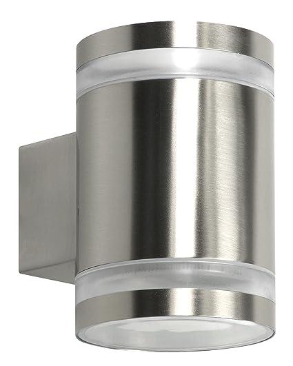 Ranex 10.068.55 Aplique exterior LED doble, luz arriba y abajo, acero inoxidable, 5000.491