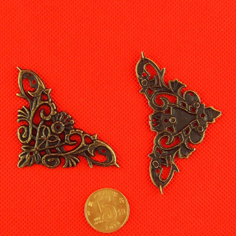 Pinzhi en alliage m/étallique plat coins Support pour bo/îte cadeau Armoire Meuble de d/écoration mat/ériel
