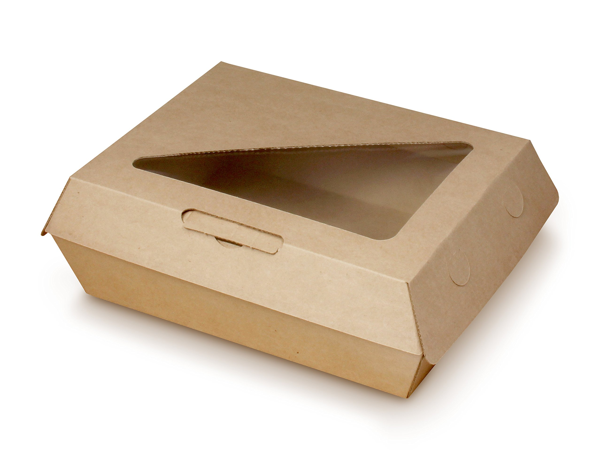 Bagcraft Papercon NAT-F608RAVTWF EcoCraft Eco-Flute ToGo! Insulated Window Container, Paper, Natural (Pack of 200)