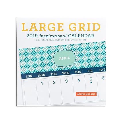 2018 framed monthly grid wall calendar