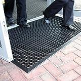 Lovinland Outdoor Mat Rubber Drainage Mat Non-Slip Mat 60 x 35 Inch Commerical Heavy Duty Mat for Resturant Kitchen Bar…