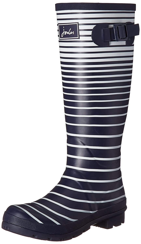 Joules Women's Welly Print Rain Boot B01MSJKX22 5 B(M) US|French Navy Ombre Stripe