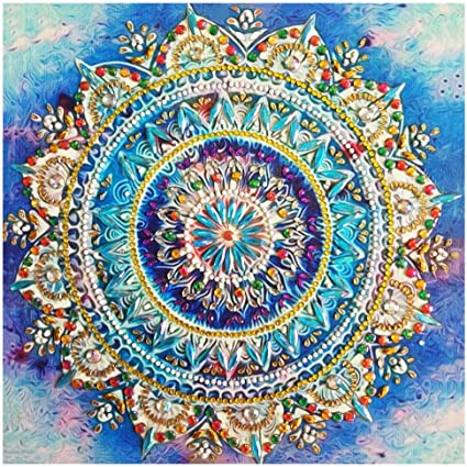 MXJSUA 5D Diamond Painting Kit Full Drill Arts Craft Canvas Supply for Home Wall Decor Adults and Kids LOVE 30x30cm