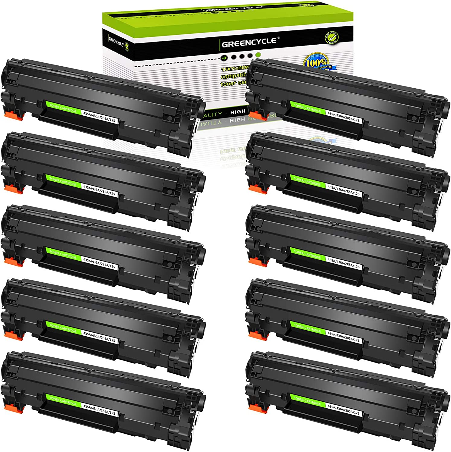 CE285A Black 85A Printer Cartridge 1-Pack Compatible High Yield Laserjet Pro M1132 M1212 Laser Printer Toner Cartridge Replacement for HP