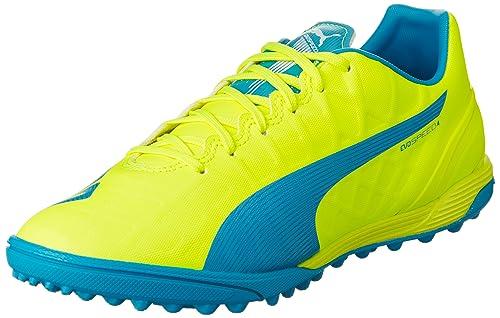 a2c87204f5 Puma Herren Evospeed 4.4 TT Fußballschuhe Gelb (Safety Yellow-Atomic  Blue-White 04