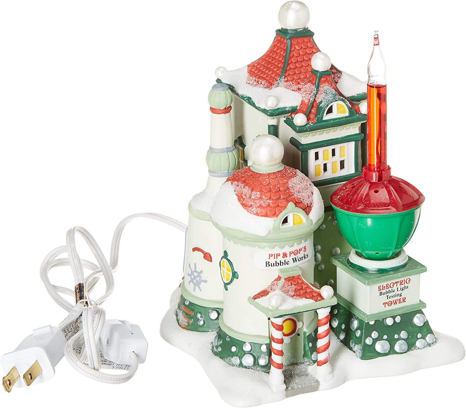 Pip /& Pops Bubble Works Christmas Snow Village Building Dept 56 NEW In Box