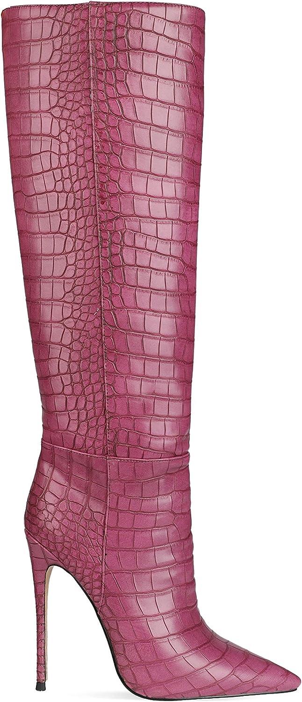 Zc2081 - Botas para mujer con cierre de cremallera para los dedos del pie, cómodas y fáciles de llevar, hechas a mano Lila 2 uDJsM