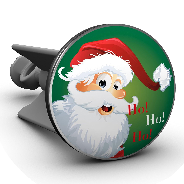 Plopp Tappo per Lavandino Babbo Natale Hohohoo, Tappo Salterello, per Lavandino, Lavabo, Scarico, 418 2ca GmbH