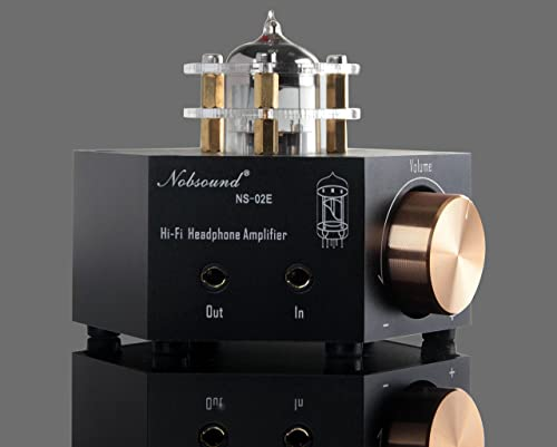 Nobsound NS-02E Vacuum Tube Headphone Amplifier Stereo HiFi Earphone Pre-Amp DIY Black