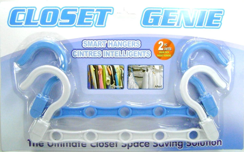 Amazon.com: Smart Hangers Closet Genie Space Saving Solution Clothes Hanger  Set: Home U0026 Kitchen