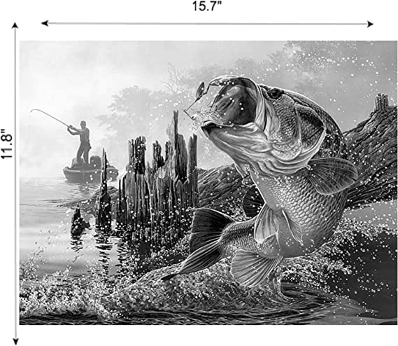 Choice of 4 BG/'s US Patent Art Print Fishing Lure with Small Mouth Bass Image