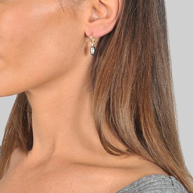 Keshi pearl and diamond mono earring Mizuki VzPO663