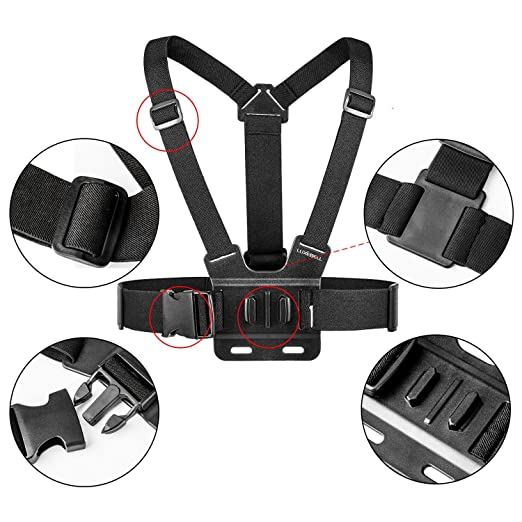 Amazon Com Luxebell Chest Mount Harness Strap For Gopro Hero 7 6 5