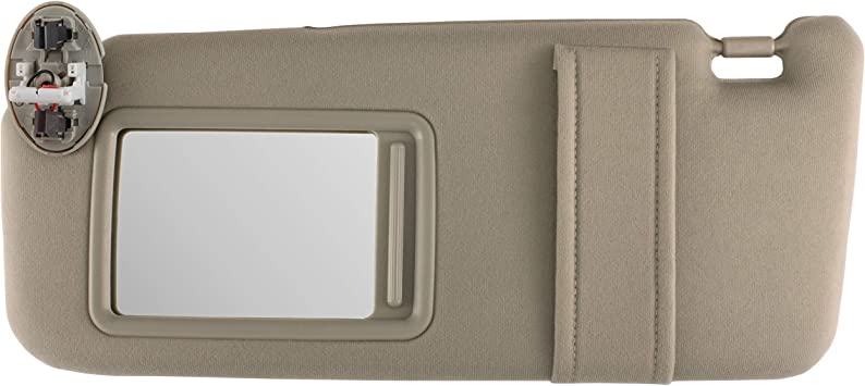 Toyota Camry 2007-2011 Genuine Driver Side Sun Visor With Vanity Lamp Tan