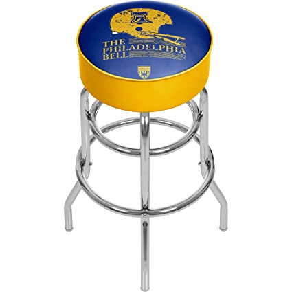 Fabulous Amazon Com Vaf Philadelphia Bell Padded Swivel Bar Stool Inzonedesignstudio Interior Chair Design Inzonedesignstudiocom
