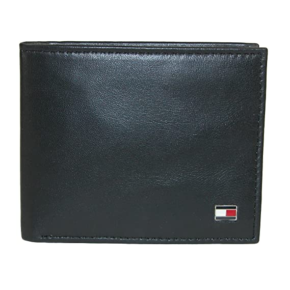 4312ee56 Tommy Hilfiger Men's Leather Slim Billfold Wallet, Black(Size: One Size):  Amazon.co.uk: Clothing