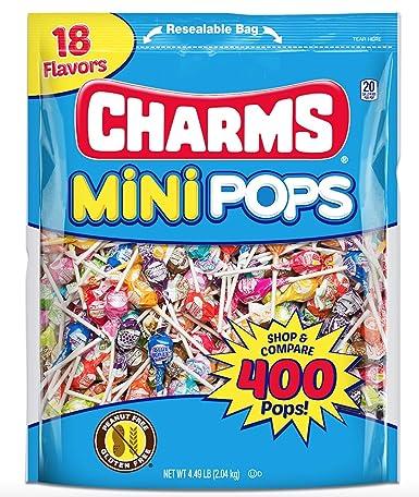 Charms Mini Pops 18 sabores surtidos de piruleta con truco ...