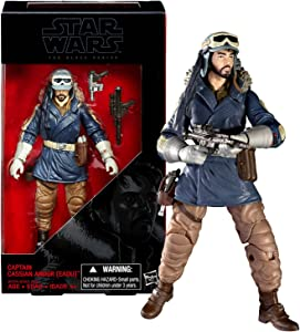 Star Wars Year 2016 The Black Series Rogue One 6 Inch Tall Figure - CAPTAIN CASSIAN ANDOR (EADU) with Removeable Hat and 2 Blasters