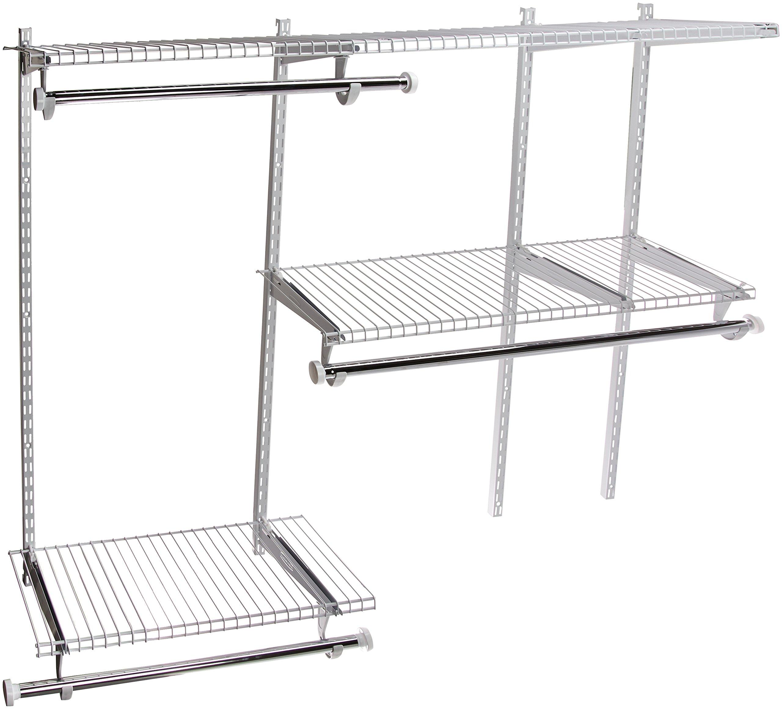 Rubbermaid FG3H1102WHT Configurations Closet Kits, 3-6', White