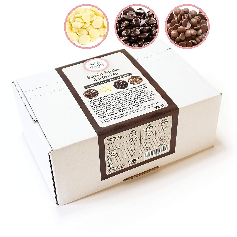 Mix de chocolate con leche, negro y blanco para fuentes de chocolate. 10 sobres embalados individualmente.: Amazon.es: Hogar