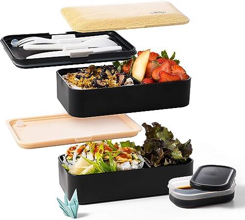 boqun Bento Box conteneurs avec des couverts All-in-One empilable cuisine Boîte Déjeuner