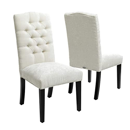 Christopher Knight Home Crown Top Dining Chair Set Of 2 , Ivory