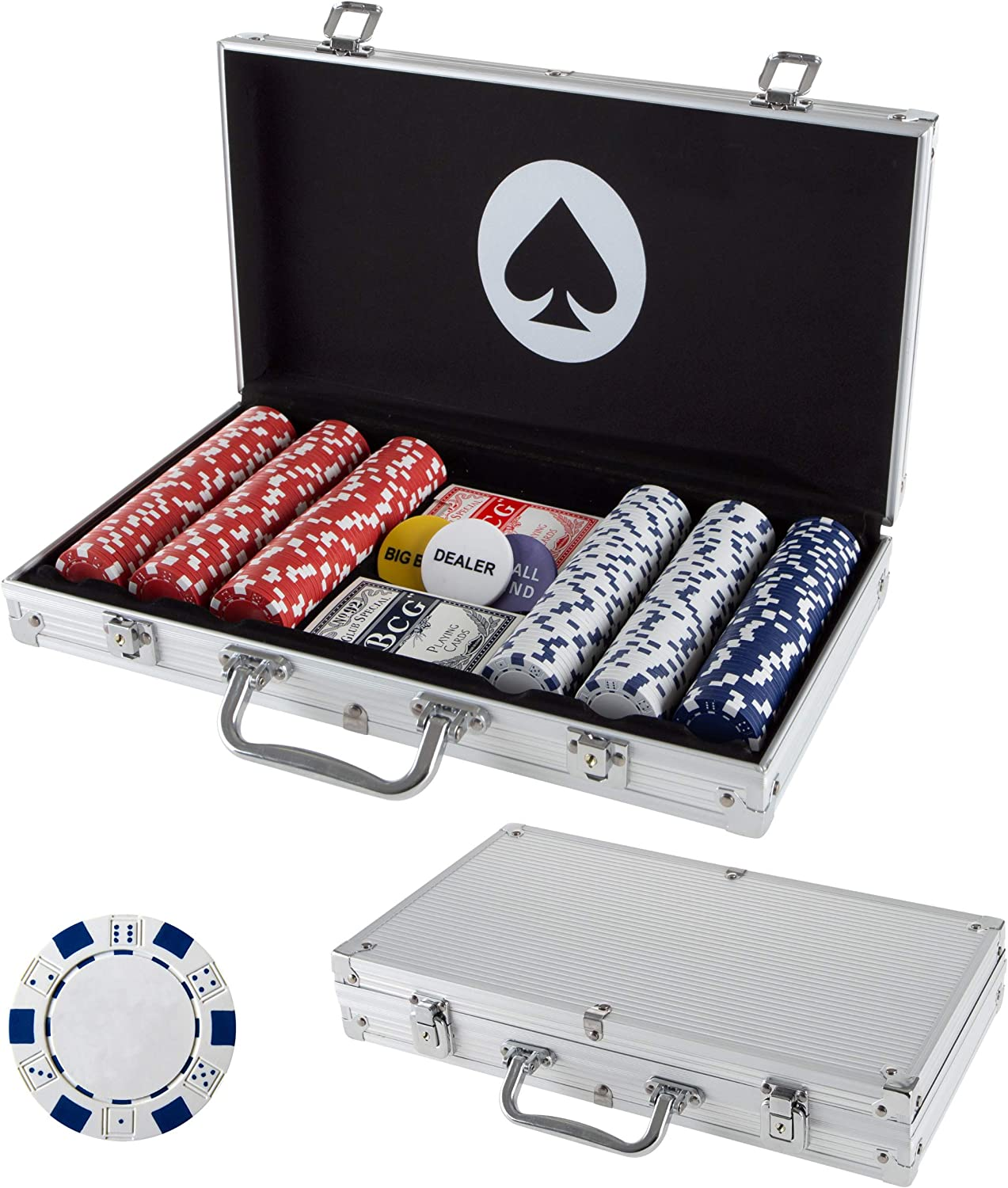 Alloy Lucky Casino Poker Texas Holdem Coin Protector Chips Beautiful Gift