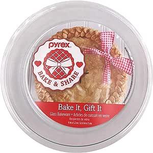 "Pyrex Glass Bakeware Pie Plate 9"" x 1.2"""