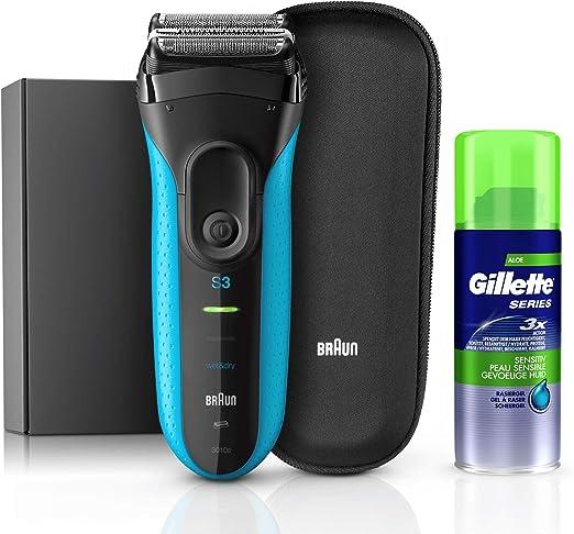 Braun 81645093 - Afeitadora (Máquina de afeitar de láminas, Triple Action FreeFloat System, Negro, Azul, Poder, AC/Batería, 45 min): Amazon.es: Hogar