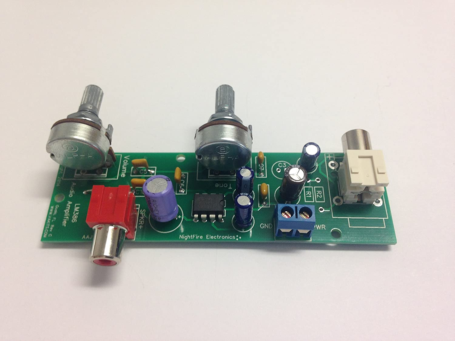 Audio Amplifier Kit With Tone Control Lm386 5328 Amp Kits 2 Channel Subwoofer Circuit Board For Diy Electronics