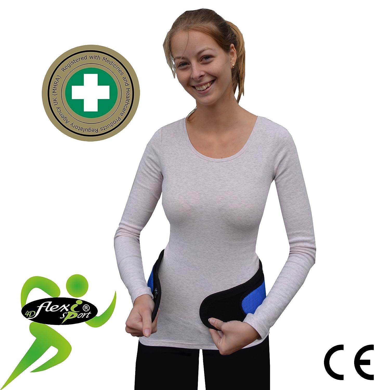 M//NEGRO SIN NEOPRENO /– SIN LATEX respeta las p/íelas m/ás delicadas 4DflexiSPORT Faja Lumbar HIPOALERG/ÉNICA - Cintur/ón de Protecci/ón Lumbar ANTI-SUDOR
