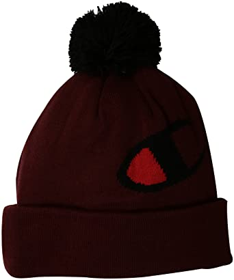 f3fcdf70f34 Champion LIFE Mens Pom Pom Beanie Pom Pom Beanie Beanie Hat - Red -   Amazon.co.uk  Clothing