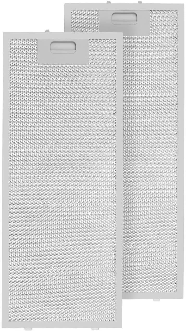 Klarstein Lorea filtro anti grasa aluminio reemplazo accesorio campana extractora 56 x 18,5 cm