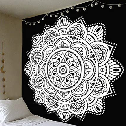 Amazon Com Joxjoz 79x59 Inch Handicraft Black And White Beach