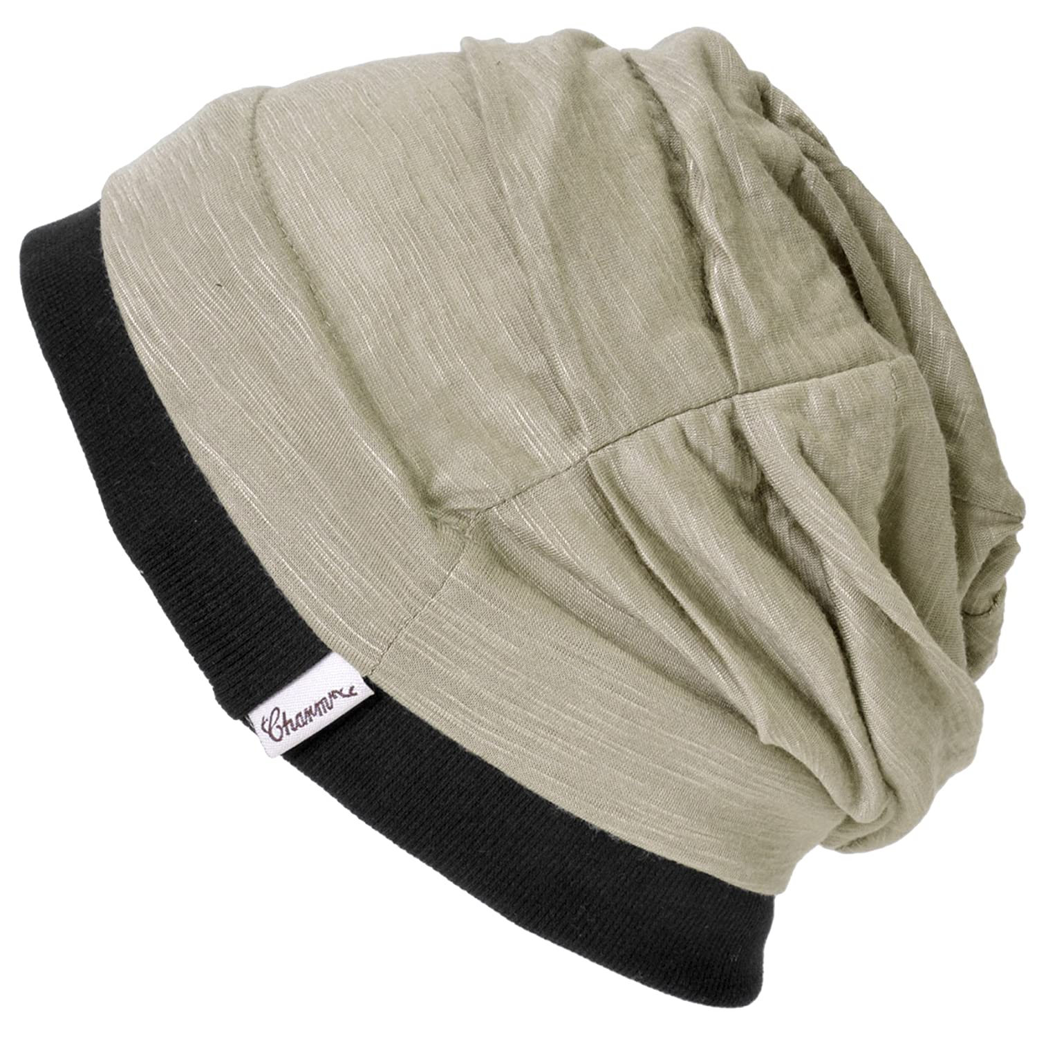 b9ab071716d Amazon.com  Casualbox Charm Mens Womens Big Baggy Slouch Beanie Loose Light  Weight Japanese Unisex Beige  Clothing