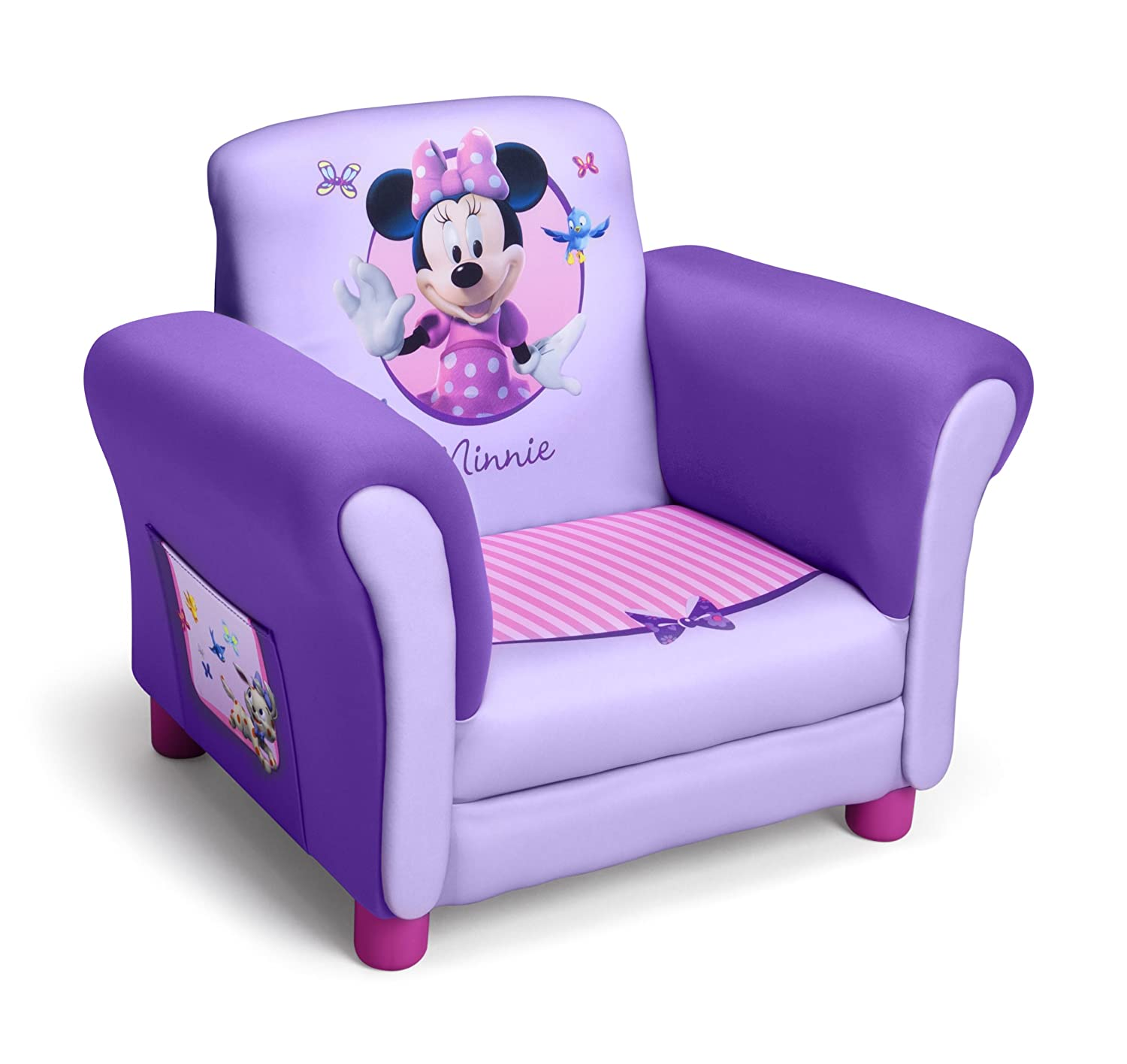 Amazon.com: Delta Childrenu0027s Products Disney Minnie Mouse Upholstered Chair  (Discontinued By Manufacturer): Baby