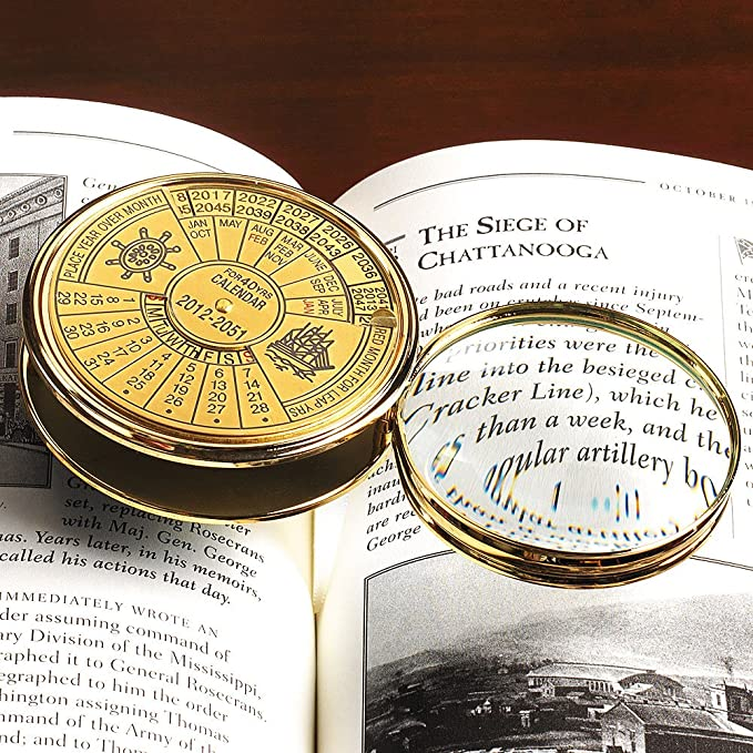 Amazon Smithsonian 40 Year Calendar And Magnifier Bath