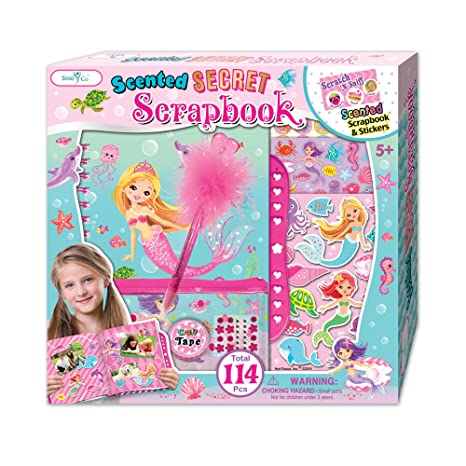 Amazon Smitco Scrapbook For Girls Mermaid Scrapbooking Arts