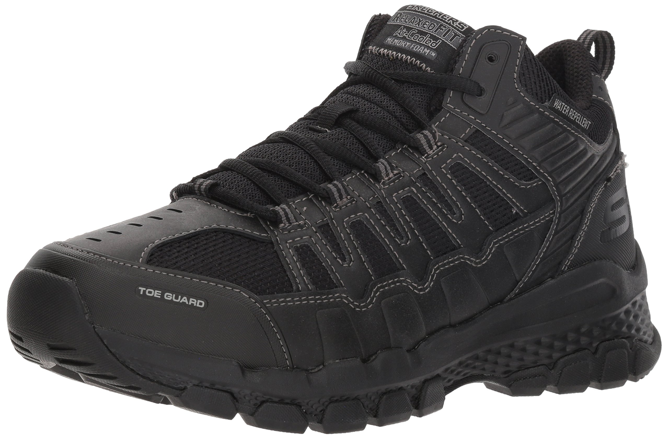 Skechers Men's Outland 2.0 Girvin Hiking Boot, Black, 9.5 M US