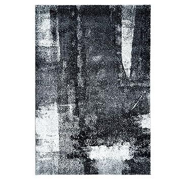 Carpet City Teppich Modern Designer Wohnzimmer Inspiration Arte Meliert  Vintage Grau Schwarz Größe 80/150